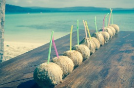 Welcome coconut drinks